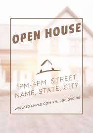 Customise A Wide Range Of Open House Invitation Templates