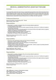 Example Of Resumes For Administrative Assistants Sample Medical Administrative Assistant Resume