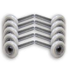 13 ball nylon garage door rollers 4 inch stem sealed bearing 10 pack
