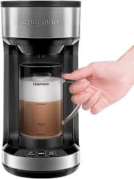 Tell us about it in the comments! Amazon Com Chefman Froth Brew Coffee Maker And Milk Frother Single Serve Brewer For K Cup Pods Grounds For Latte And Cappuccino Style Drinks Compact 20 Oz Glass Mug And Reusable Filter