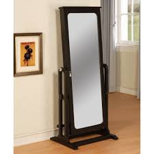 furniture appealing black standing jewelry armoire featuriing cheval mirror free standing mirrored jewelry armoire