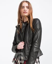 faux leather biker jacket faux leather leather woman zara united states