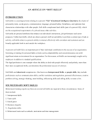 soft skills - Soft Skills Resume Example