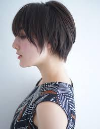 ショート黒髪ストレート ヘアカタログ髪型ヘアスタイルafloat In