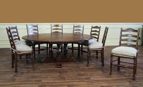 Table With Hidden Chairs 62 78 Jupe Table For Sale Round To Round Country Dining Table