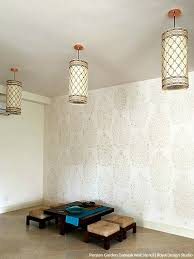 how to stencil diy tutorial indian design fl damask wallpaper wall stencils