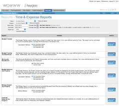 Hourglass Time Expense Reporting Software Solutions