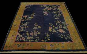 antique chinese art deco rug 8 9 x 11 3
