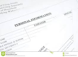 basic personal information form personal information form stock photo image of glasses 56781988
