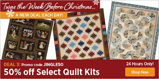 Keepsake Quilting: Cut Your Quilt Kit Price in Half ✂   Milled & Deal 3: 50% off Select Quilt Kits Adamdwight.com