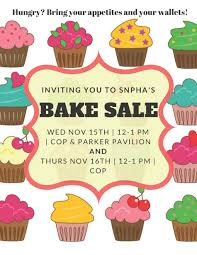 baking sale snpha fall donation bake sale university of new england in maine