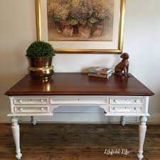 timber french style desk hand painted by lilyfield life