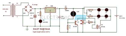 automatic led emergency light circuit using ldr automatic emergency light circuit diagram