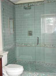 Bathroom Tile Patterns Cool Traditional Bathroom Tile Blue Glass Tile Shower Traditional