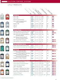 Cleaning Chemical Dilution Chart Diversey Full Line Product Catalog Pdf Free Download