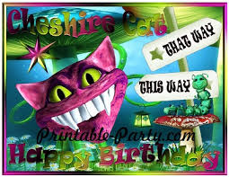 Printable birthday left right game ~ Printable birthday left right game ~ Wonderlands cheshire cat party supplies printable birthday