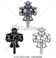 coloring book knight caracter csp25820586