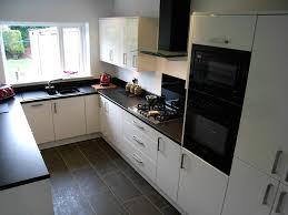 White Kitchen Cabinets With Dark Floors Grey Brown Kitchen Floors