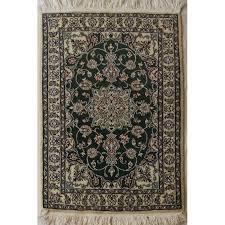 nain persian wool silk rug prn1008