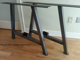Steel Coffee Table Frame Abrufen Metal Table Legs Etsy Bases For Wood Tops Metal Table Base