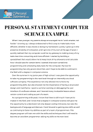 Examples Of Personal Statements Best Help Through Our Computer Science Personal Statement Examples