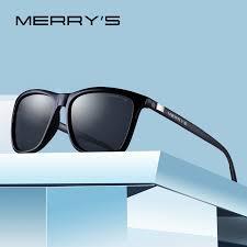 MERRYS Unisex <b>Retro Aluminum Sunglasses Polarized</b> Lens ...