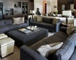 dark gray living room furniture. example of a huge classic open concept carpeted living room design in orlando with white walls dark gray furniture g