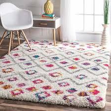 nuloom pink bohemian inspired moroccan trellis vibrant diamond rug