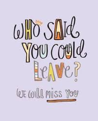 who said you could leave leaving card 3012452