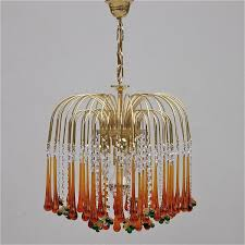 chandeliers vintage with regard to fashionable vintage teardrop and fruit murano glass chandelier for at