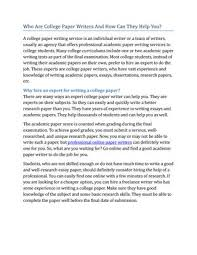 college paper writers by vanan paper writing issuu who are college paper writers and how can they help you a college paper writing service is an individual writer or a team of writers usually an agency