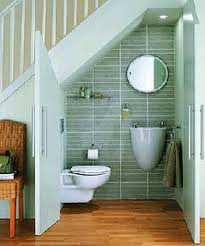 Small Picture photo by jason sewell tiny bathroom under stairs as space saving