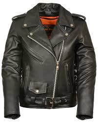 zoomed image milwaukee leather women s full length side lace leather motorcycle jacket black