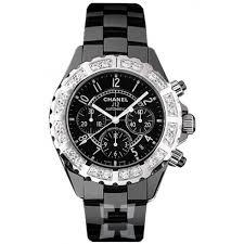 chanel j12 black ceramic diamond chronograph automatic men s watch chanel j12 black ceramic diamond chronograph automatic men s watch h1178
