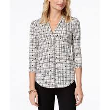 Charte Club Charter Club Petite Printed Popover Shirt Created For Macys