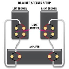 how to bi wire and bi amp your speakers sewelldirect com Bi Amp Wiring Diagram speaker setup with bi wiring bi amping wiring diagram