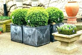tall black square planters cube planter box contemporary outdoor containers boxes b contempor tall black plant pots outdoor home depot large