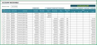 Accounts Receivable Templates Excel Account Receivable Excel Template Exceltemplate Net