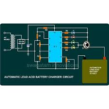 how to build a 12v automotive battery charger using a ic tca 965 automatic battery charger circuit diagram image