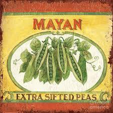 mayan painting mayan peas by debbie dewitt