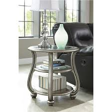 t820 6 ashley furniture cayne silver finish living room end table