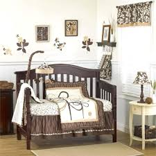 decoration vintage style crib bedding airplane baby room chic brown wooden set sets
