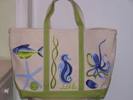 custom designed handpainted canvas bags for yourself or as a very special gift