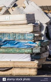 mattress recycling. Mattress Recycling Facility .striving To Recycle Every Bit Of Used Stock Photo: 171535624 - Alamy G