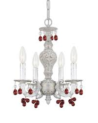 crystorama paris market 4 light antique white mini chandelier
