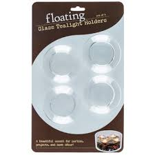 Floating Glass Tea Light Candle Holders