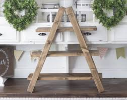 Wooden Ladder Display Stand Rustic cupcake stand Etsy 63