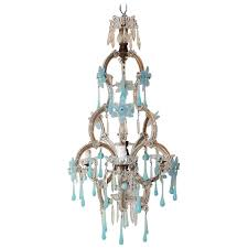 murano glass chandeliers aqua blue flowers and drops glass chandelier circa for murano glass lighting murano glass chandeliers