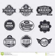 Vintage Logo Vector Retro Vintage Vector Labels Stock Vector Illustration Of Guarantee