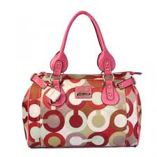Coach In Signature Large Pink Satchels BBC